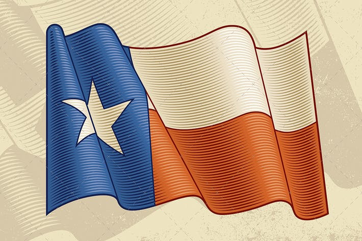 Thumbnail for Vintage Texas Flag