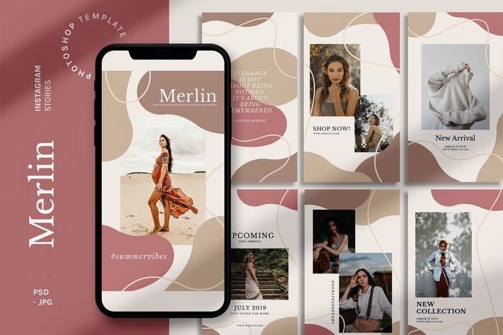 Thumbnail for Merlin - Instagram Stories Template