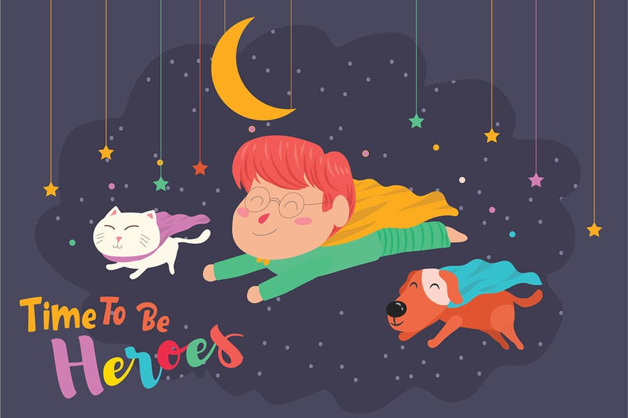 Superheroes - Vector Illustration