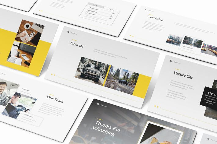 Thumbnail for Taxi Service Google Slides Template