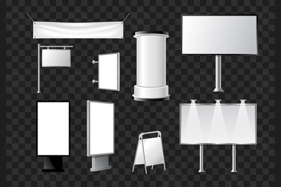 Set of advertising pillars - vector objects
