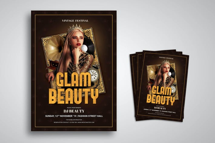 Thumbnail for Glam Beauty Flyer Promo Template