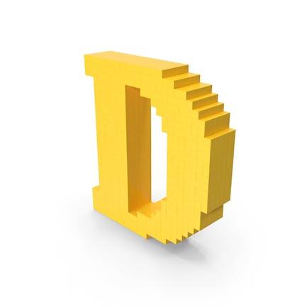 Pixel-Kunstbuchstabe D