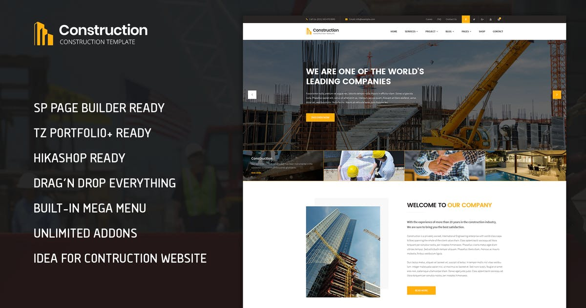 Download Construction - Building & Architect Template by templaza