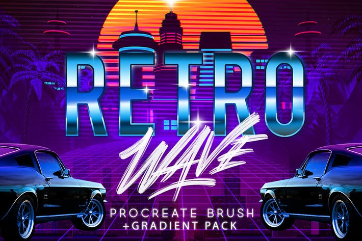 Thumbnail for RETRO WAVE BRUSH FOR PROCREATE