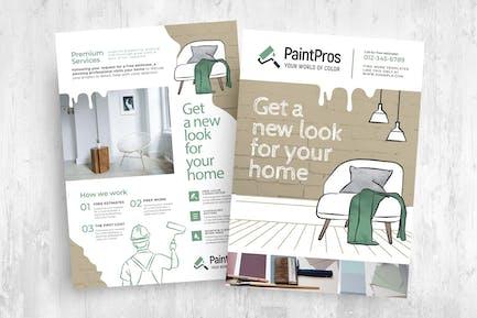 Painter & Decorator Poster / Flyer / Brochure