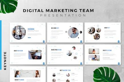 Digital Marketing Pro Keynote Slide Presentation