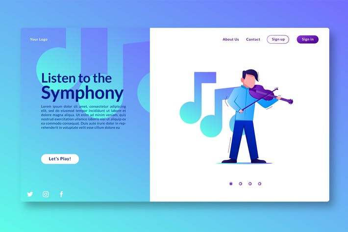Thumbnail for Listen to the Symphony - Landing Page GR