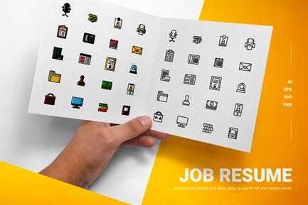 Job Resume - Icons