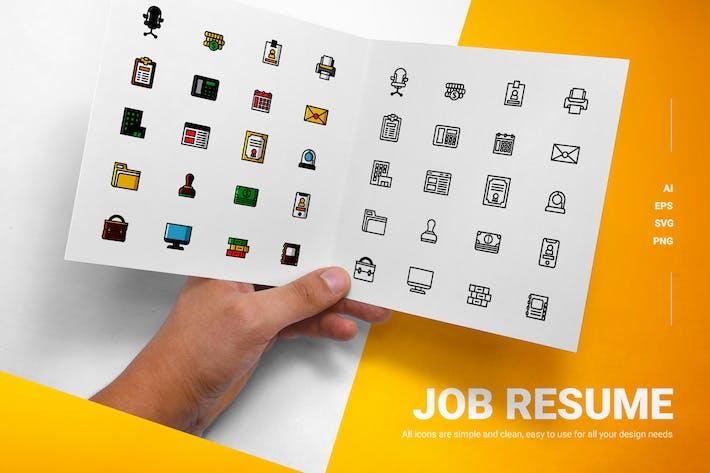 Job-Lebenslauf - Icons