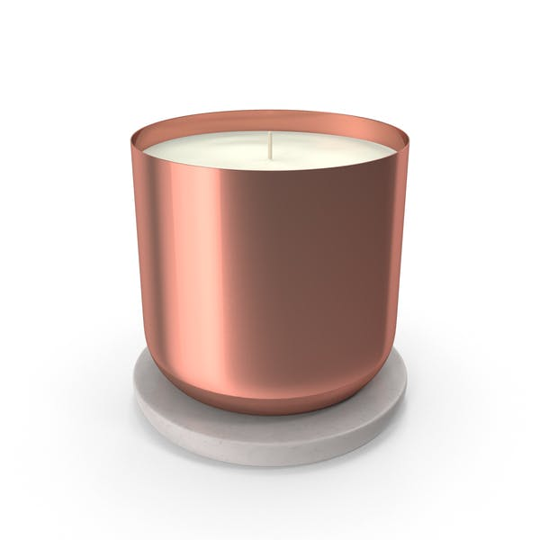 Scented Candle Small Metal Copper