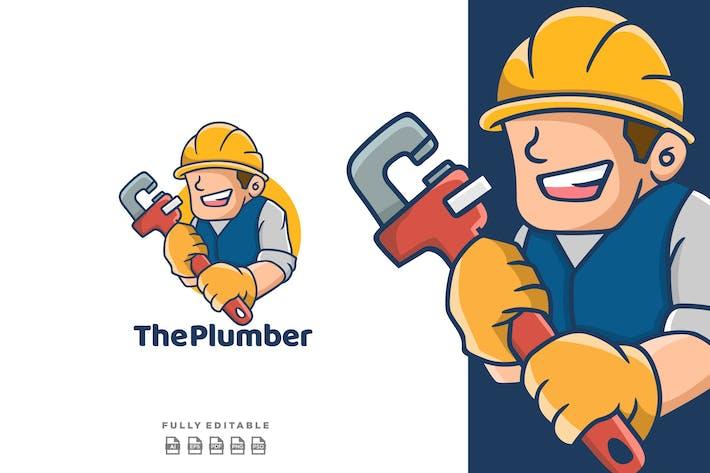 Thumbnail for Man Plumber Mascot Logo Cartoon