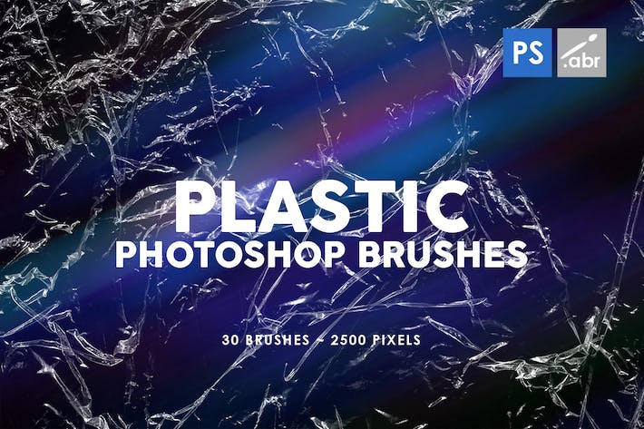 Thumbnail for Plastic Photoshop Stamp Brushes | 01