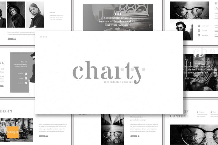 Thumbnail for Charty - Google Slides Template