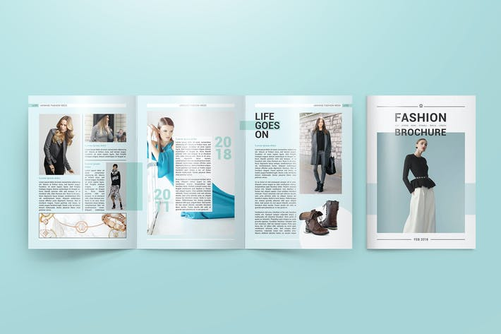 Thumbnail for A4 Trifold Brochure Mockups
