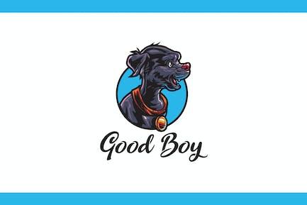 Cartoon BIg Necklace Dog Mascot Logo