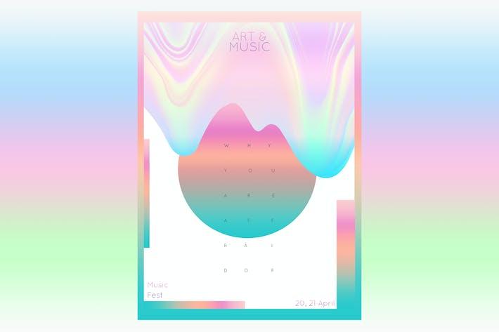 Thumbnail for Affiche sur les arts et dépliant musique