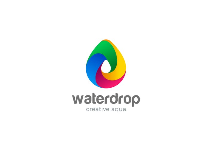 Thumbnail for Logo Water Droplet Colorful Aqua Drink Drop