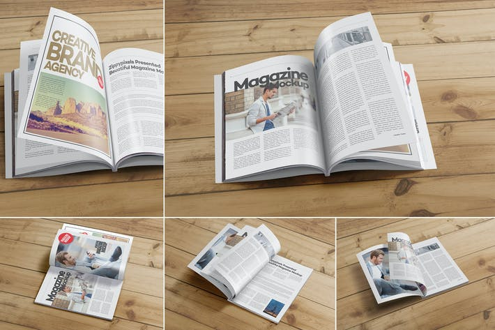 Thumbnail for Magazine Mockups PSD