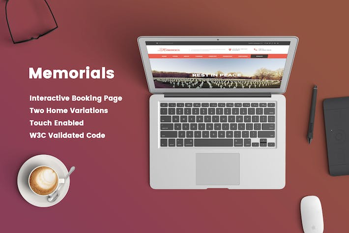 Thumbnail for Memorials - Funeral & Cemeteries HTML5 Template