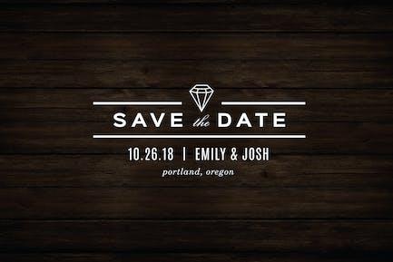 Diamond Save The Date