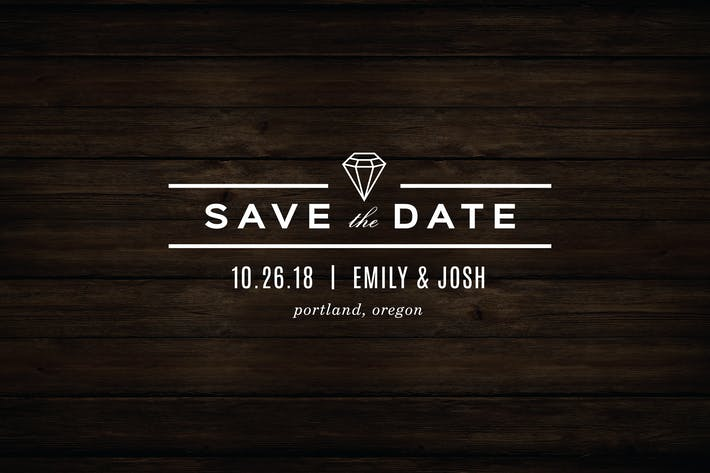 Thumbnail for Diamond Save The Date