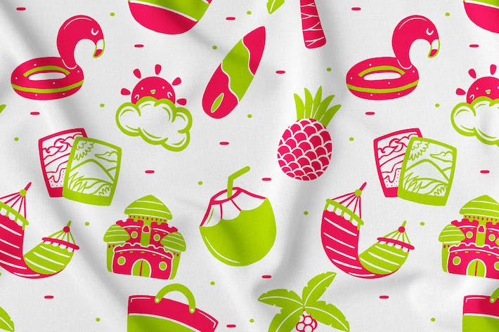 Thumbnail for Summer Seamless Pattern