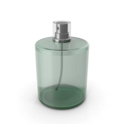 Botella de perfume verde