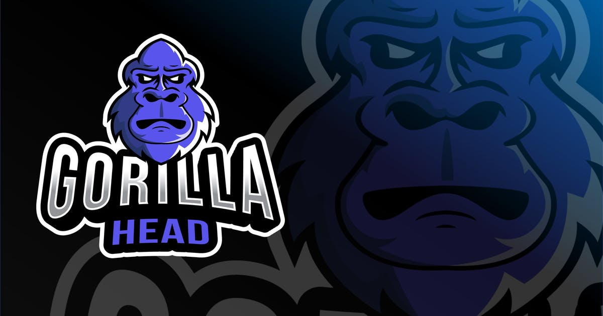 Download Gorilla Head Esport Logo Template by IanMikraz