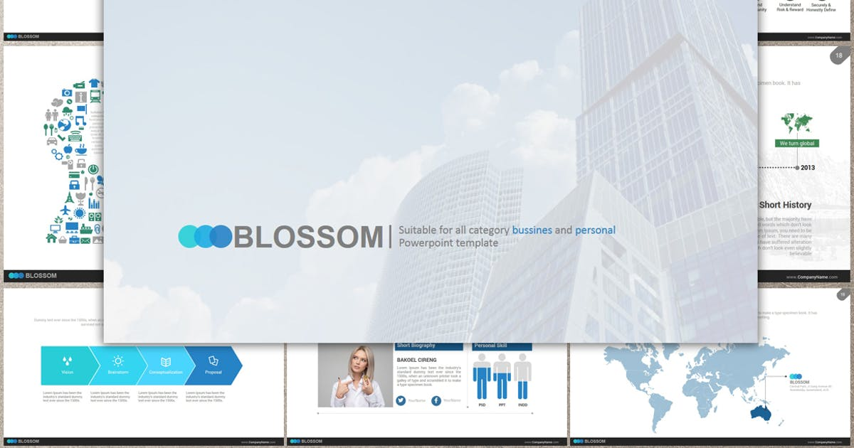 Download BLOSSOM Powerpoint by Artmonk