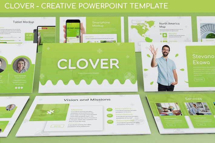 Thumbnail for Clover - Creative Powerpoint Template