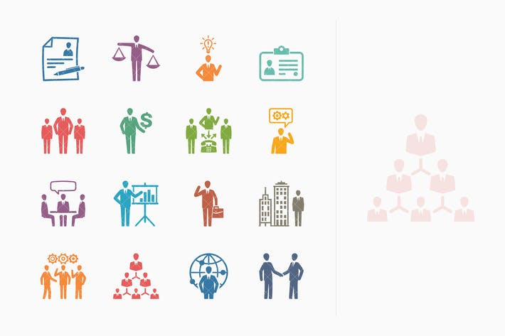 Thumbnail for Business & Management Icons Set 1 - Colored Series