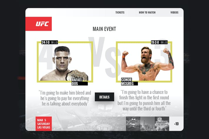 Thumbnail for UFC Event App