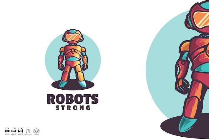Thumbnail for Robots Strong Logo template