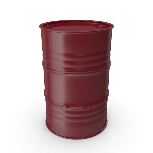 Barril de metal limpio vino tinto