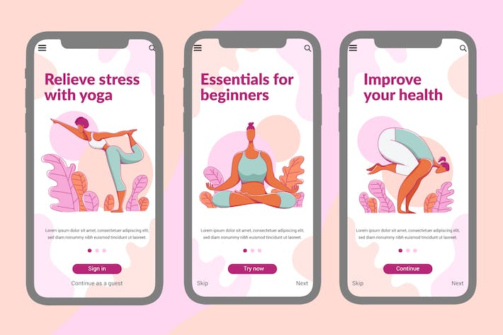 Thumbnail for Onboarding Screen For Yoga Apps