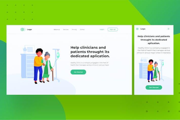 Thumbnail for Interface utilisateur de la page d'accueil médicale avec illustration 1.3