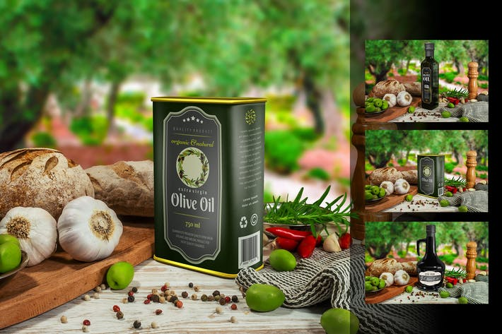 Thumbnail for Olive Oil Package Mockup Vol 1