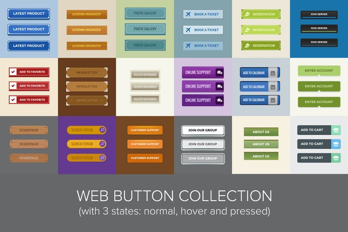 Thumbnail for Web Button Collection