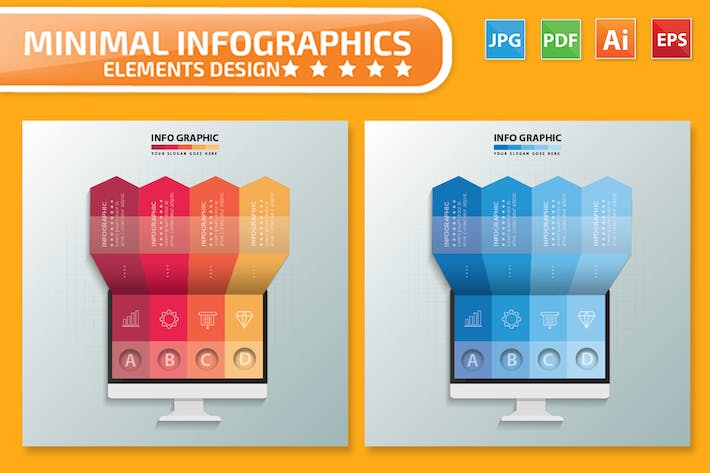 Thumbnail for Monitor Infographics Design