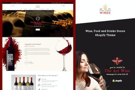 Winee - Вино, Винодельня Shopify Тема