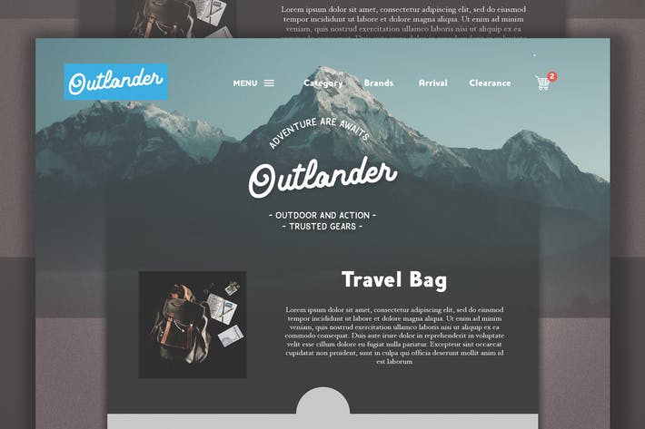 Thumbnail for Adventure Web Template