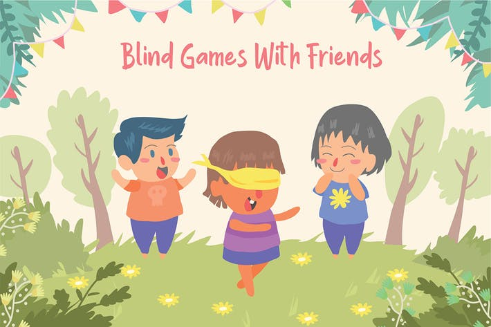 Thumbnail for Blind Games - Vector Illustration