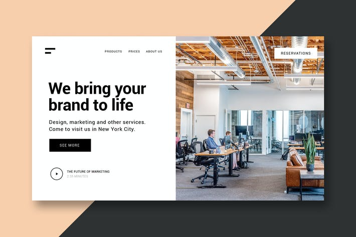 Thumbnail for Business & Marketing - Landing Page