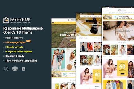 FashShop - Multipurpose OpenCart 3 Theme