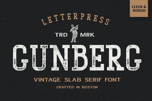 Gunberg Vintage Font