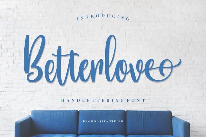 Betterlove | Fuente de Handlettering