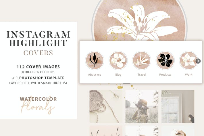 Cover Image For Floral Instagram Highlight Covers