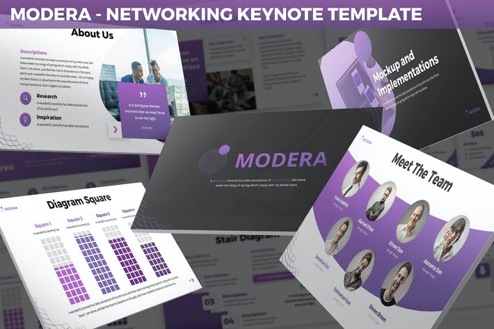 Thumbnail for Modera - Networking Keynote Template