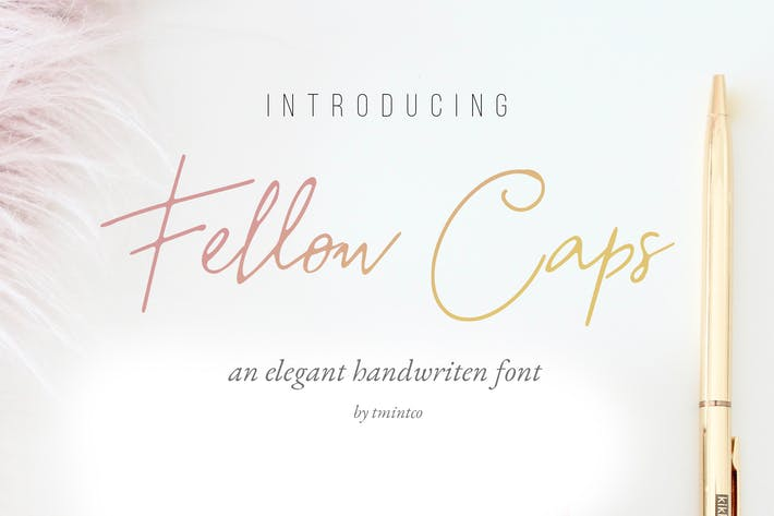 Fellow Caps - Handwritten Font